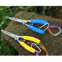 Fishing Pliers Braided Cutters Fishing Hook Removers with Retractable Coil Lanyard