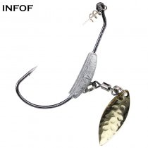 50 pieces/bag Jig Hook Swim Blade Jighead 4.5g 5.5g 7.2g Lead Jig Head Hooks Weighted Swimbait Carp Fishing Hooks