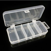 10 pcs Multi-fonction Fishing Tackle Box For Lure Baits Transparent Plastic Case 5-Compartment