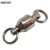 1000 pieces/bag Fishing Ball Bearing Swivels with split ring ,Rated from 8 LB TO 130 LB,Saltwater Fishing Tackle