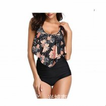 Swimsuit for Women Two Pieces Bathing Suits Top Ruffled Racerback with High Waisted Bottom Tankini Set