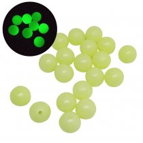 Glow Fishing Beads Soft Plastic Luminous Fishing Stopers  Round  Fishing Stop
