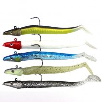 Lead Head Jigs Soft Fishing Lures with Hook Sinking Swimbaits for Saltwater and Freshwater