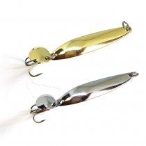 Metal Fishing Spoon Lure  Noise spoon Baits Feather Treble Hook Pesca Fishing Tackle 5g/7g/10g/13g