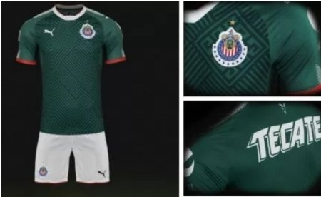 863a04ce5 Adult Custom Soccer Uniform kits Chivas de Guadalajara 2017 18 Third Jersey  Soccer Kit Green