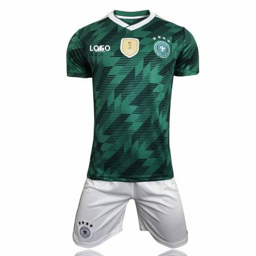 the best attitude 7ea79 ac02d 2018 Adult Germany Away Camiseta de futbol soccer jerseys set World Cup Men  Football Kits cheap soccer jersey online
