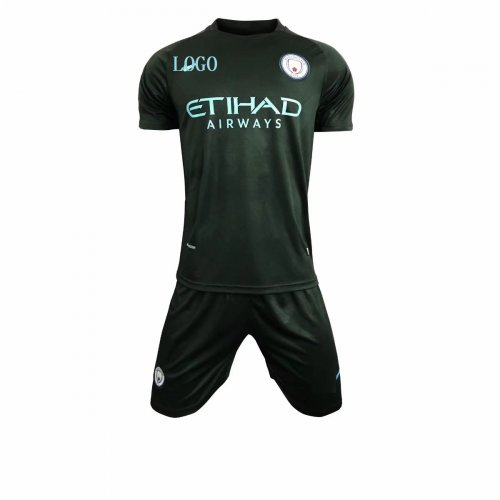premium selection 0054d 5d4fc 2017/2018 Adult Manchester City Third Soccer Jersey Uniforms Men Complete  Football Team Kits Custom Soccer Jersey sets