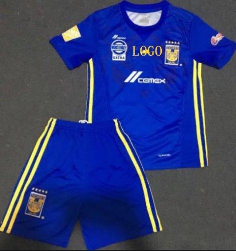 official photos ffbb4 9d614 2016/17 Men Tigres Away Blue Football Uniforms Soccer Jersey Kits Wholesale  Custom soccer team kit