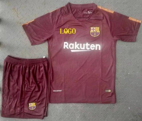 sale retailer 92a69 fdb93 2017-18 A Quality Adult Barcelona Second Away Wholesale Soccer Jersey  Uniform Shirt+Short Man Football Sport Jersey