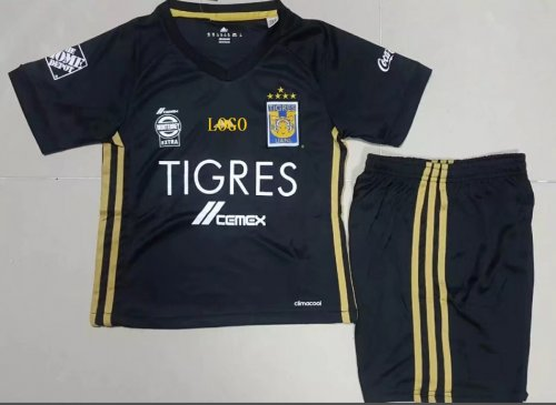new style f918d 6d991 Wholesale 17/18 Tigres UANL Home Black Soccer Uniforms Adult Football Kits  Custom soccer jerseys