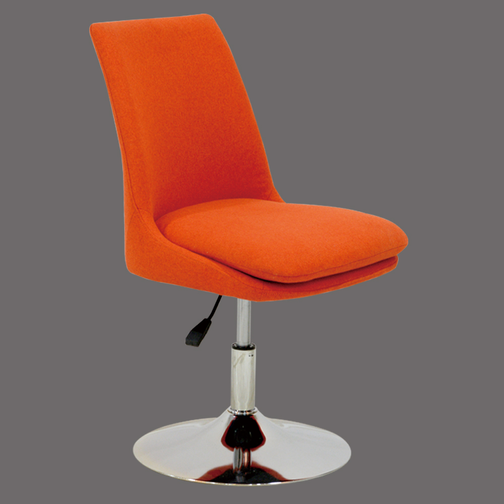 Fashion Swivel Orange Fabric Dining Chair Loading Zoom