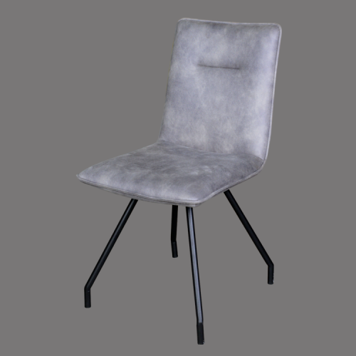 Dining chair gray leather