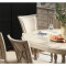 Taylor Extendable round Dinning table+Taylor cloth Dining Chair(set of 2 )