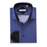 Mens Printed Casual Long Sleeve Dress Shirt