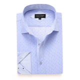 Mens Printed Casual Long Sleeve Dress Shirt print-01-A6974