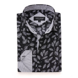 Mens Printed Casual Long Sleeve Dress Shirt print-01-K1656