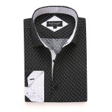 Mens Printed Casual Long Sleeve Dress Shirt print-01-K1218