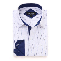 Mens Printed Casual Long Sleeve Dress Shirt print-01-20-100
