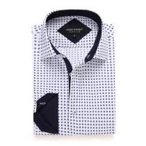 Mens Printed Casual Long Sleeve Dress Shirt print-01-K1206