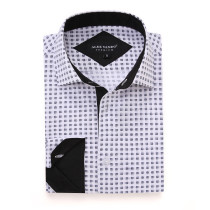 Mens Printed Casual Long Sleeve Dress Shirt print-01-20-70