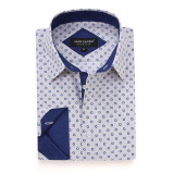Mens Printed Casual Long Sleeve Dress Shirt print-01-K1668