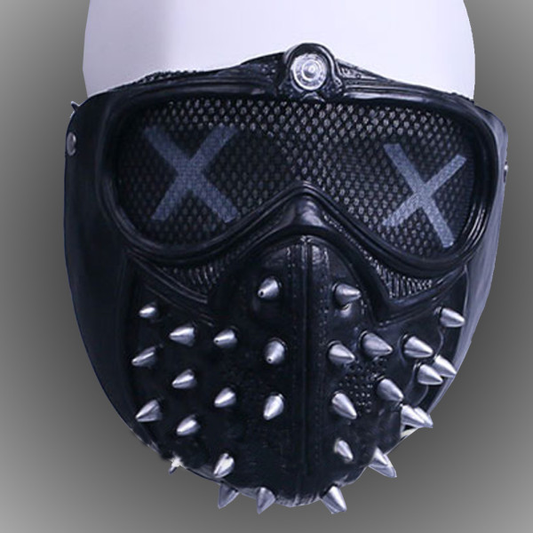 Burning Man Gothic Punk Leather Face Mask Studded Face Bandana Festival EDM Rave Outfits Coachella