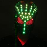 Burning Man Laser Light Skull Mask Face Bandana Festival EDM Rave Outfits Coachella