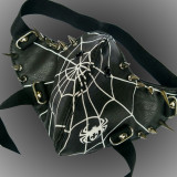 Burning Man Gothic Punk Leather Mask Studded Face Bandana Festival EDM Rave Outfits Coachella