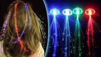 LED Fibre Rave Hair Extensions Festival Accessories