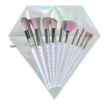 5 Piece Set Rainbow Unicorn Makeup Brushes Set With Holographic Diamond Foundation Eyebrow Eyeliner Cosmetic Concealer
