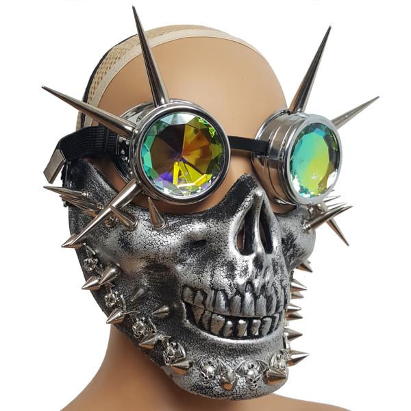 Burning Man Festival Spike  Skull Goggles Half Face Mask