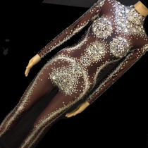 Drag Queen Costumes Sparkly Rhinestone Bodysuit Crystal...
