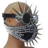 Steampunk Spike Goggles Burning Man Halloween Costumes Rider Cosplay Rave Dust Gas Mask