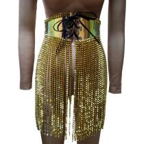 Burning Man Costumes Rave Spike Fringe Skirt Bottoms Singer Stage Performance Wear Fashion Show