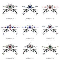 9pcs Different Pattern Gypsy Shrine Starry Eyes Face Jewel