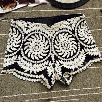Gypsy Lace Crochet Rave Booty Shorts Bottoms Outfits