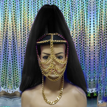 Burning Man Accessories Chain Headpiece Mask Costumes Summer Festival Rave Outfits Clothes Gear Celebrity Stage Wear