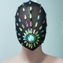 Custom Couture Mask Burning Man Mask Headdress Head Pieces Costumes Festival Rave Clothes Outfits Gear Halloween Masquerade