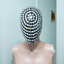 Pearl Full face Couture mask, face accessories,Head Piece face, rave mask,burning man mask