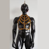 Men Body Chain Harness,Burning Man Men Costume,Bondage Fetish Wear