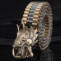 handmade brass stainless steel belt