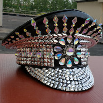 Burning Man Festival  Hat officer Hat Military Captains Rave Bespoke Hat Costumes Gypsy Headpiece Headwear