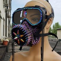 Holographic Spike Mask,Steam Punk Mask,Halloween Costume,Festival Mask, Burning Man Mask,Dust Mask,Goggles Mask