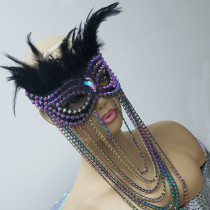 feather mask,chain mask,festival mask,halloween mask,spike mask,leather mask