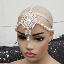 Pearl Chain Headpiece / Bridal Pearl Headpiece / Gatsby Headpiece /Chain headpiece/Burning Man Headpiece/Cosplay Halloween Costumes