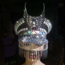 Burning Man Festival Captain Hat .officer Hat. Military Captains Rave Hat,Dancer Hat, Costumes Gypsy Boho Hippie Headpiece