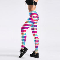 Rave EDM Clothings Print Sport Yoga Leggings Pants Muscial Festival Outfits Bottoms Burning Man Clothes