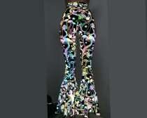 Reflective Iridescent Holographic Rainbow High Waist Bell Bottom Flares Leggings Pants Clothing