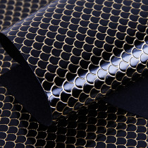 Black Mermaid Scale PU leather fabric material for handbag,DIY,body harness,appearl,costume Fabric