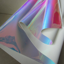 Iridescent holographic PU mirror leather fabric material for handbag,DIY,body harness,appearl,costume